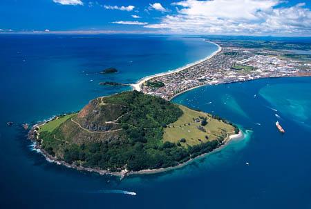 Mount Maunganui & Tauranga Harbour - aerial